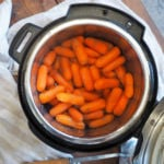 Cooked paleo glazed carrots in an instant pot.