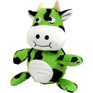 A green cow toy.